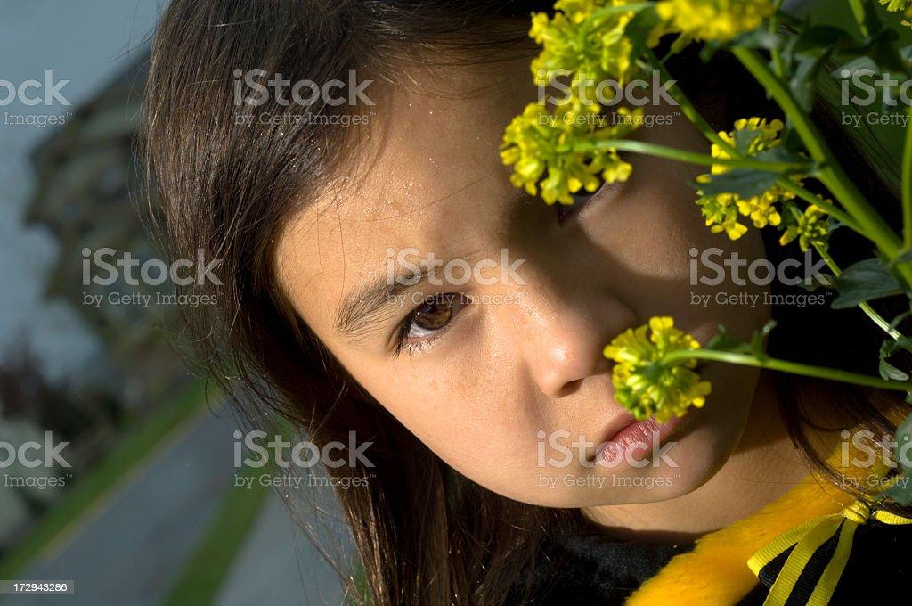 Environmentalist Child stock photo