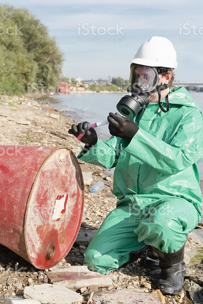 Environmentalist working in field royalty-free stock photo