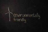 TEXT Environmentally Friendly against black backdrop - Illustration