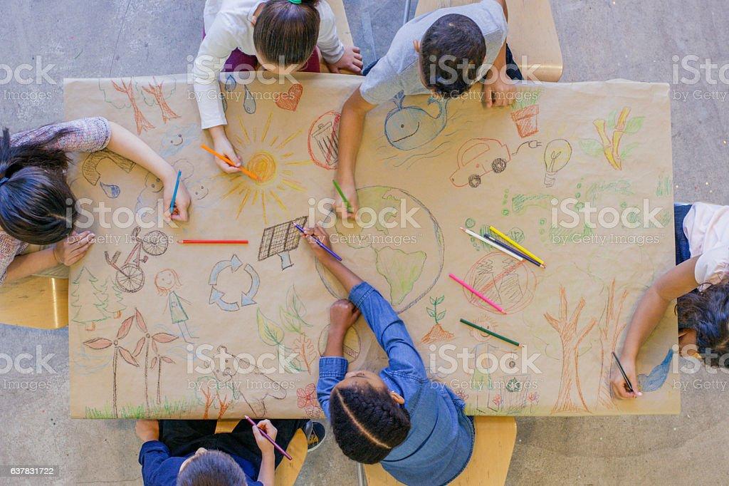 Environmentally Friendly Art stock photo