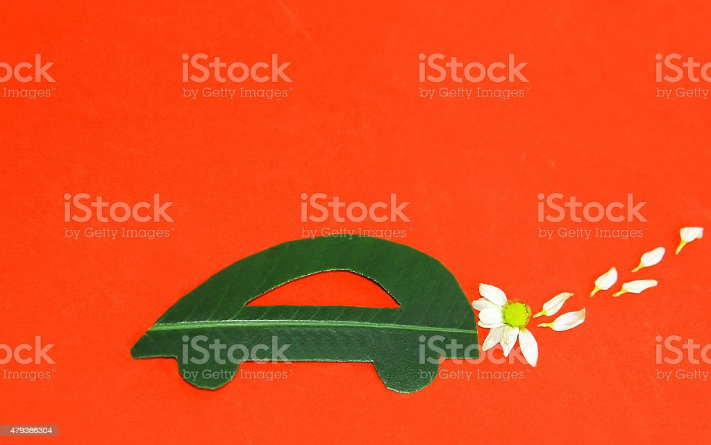 Environmentally friendly car stock photo