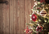 Environmentally Friendly Christmas Tree with Decorations and Ornaments