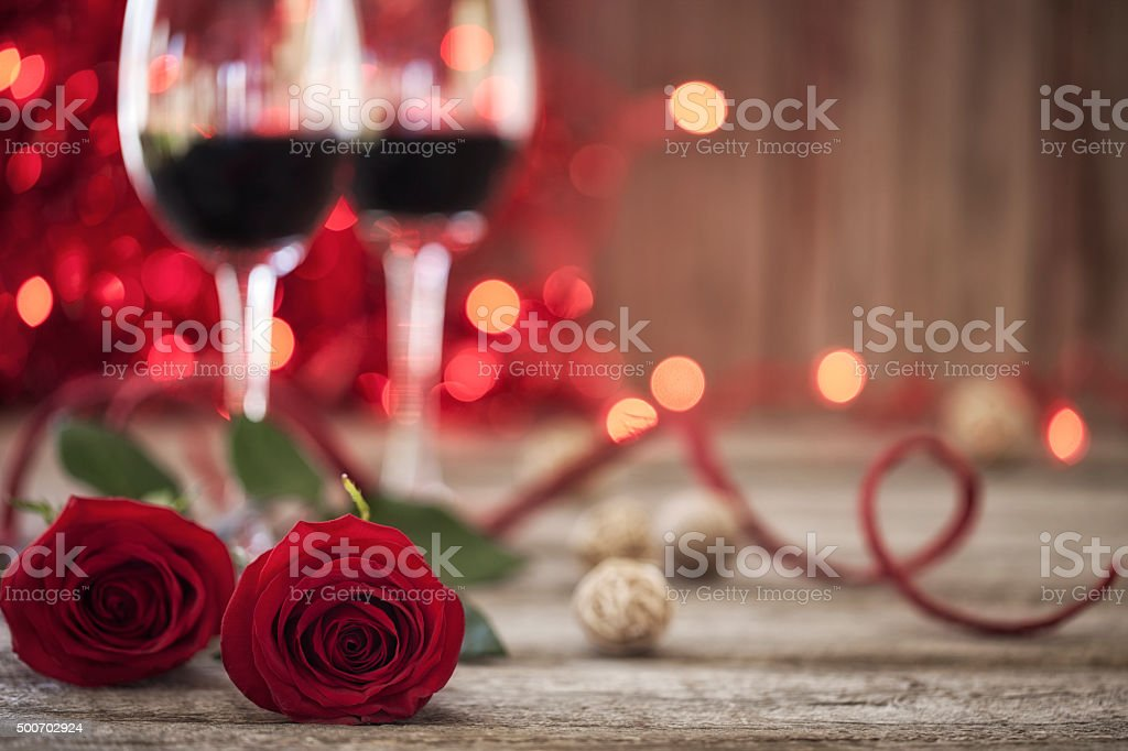 Environmentally Friendly White Wine and Gift on Rutic Wood Background stock photo