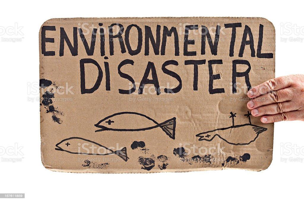 Environmentalmental Disaster Sign royalty-free stock photo