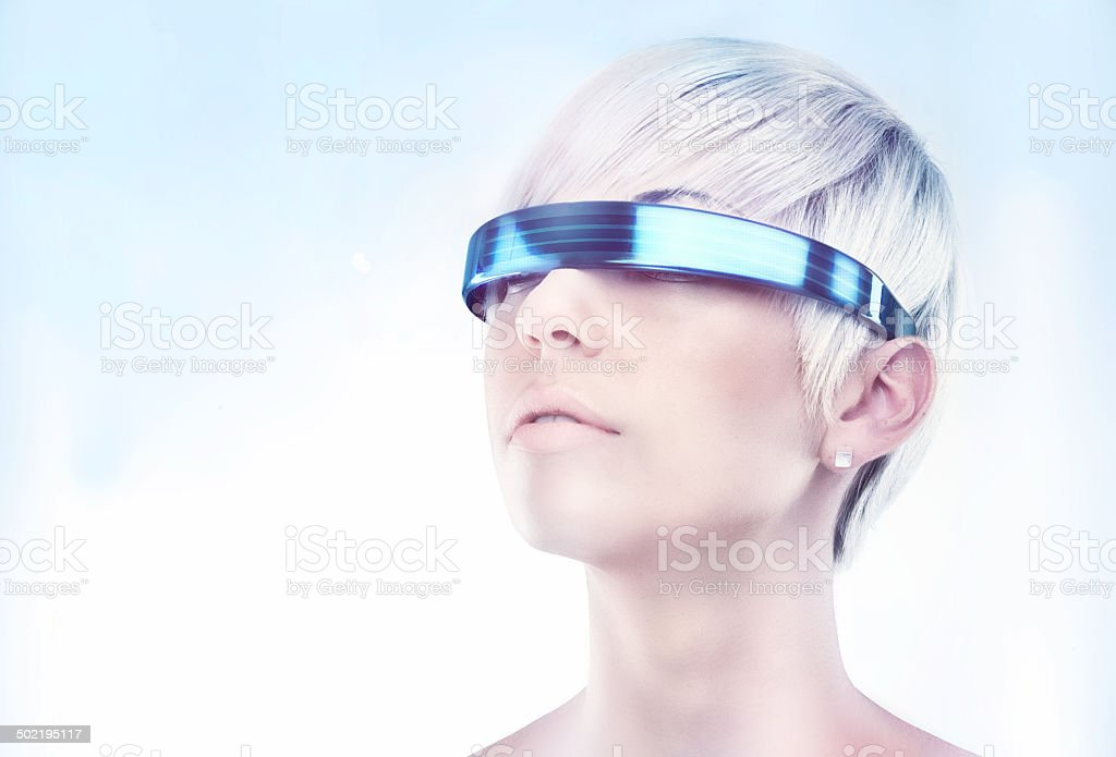 Envisioning the future stock photo