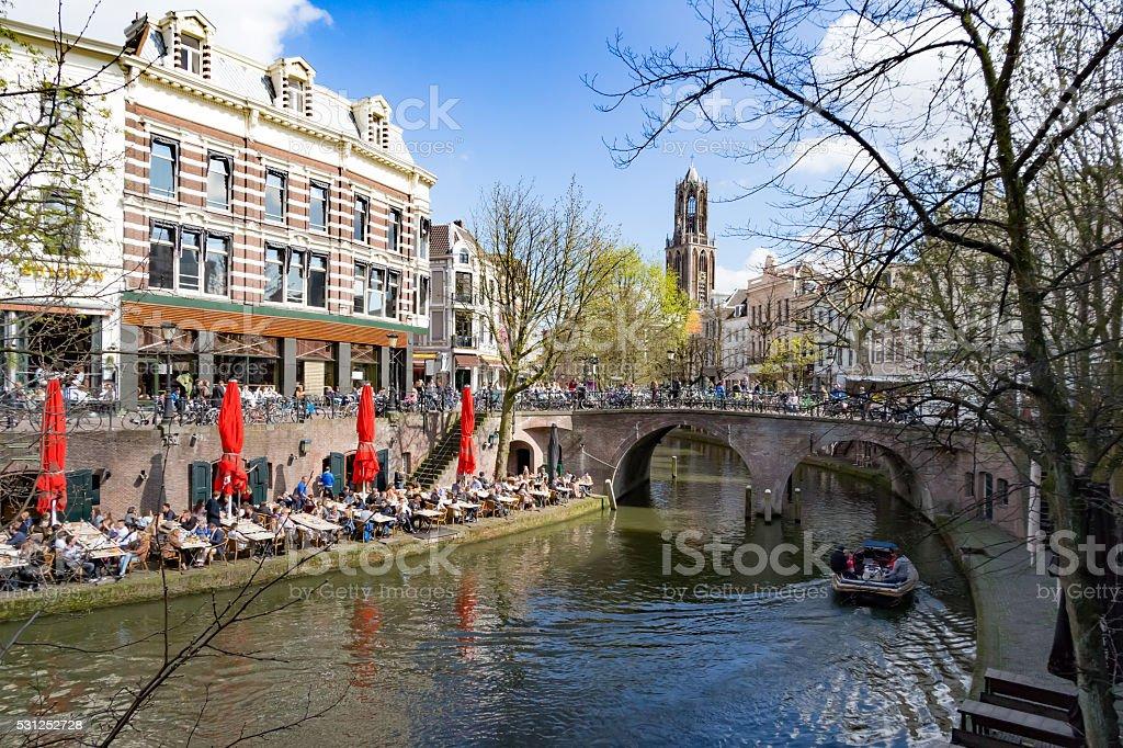 Enyoing Utrecht, The Netherlands stock photo