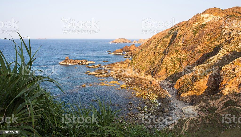 Eo Gio ocean coast at Quy Nhon city stock photo