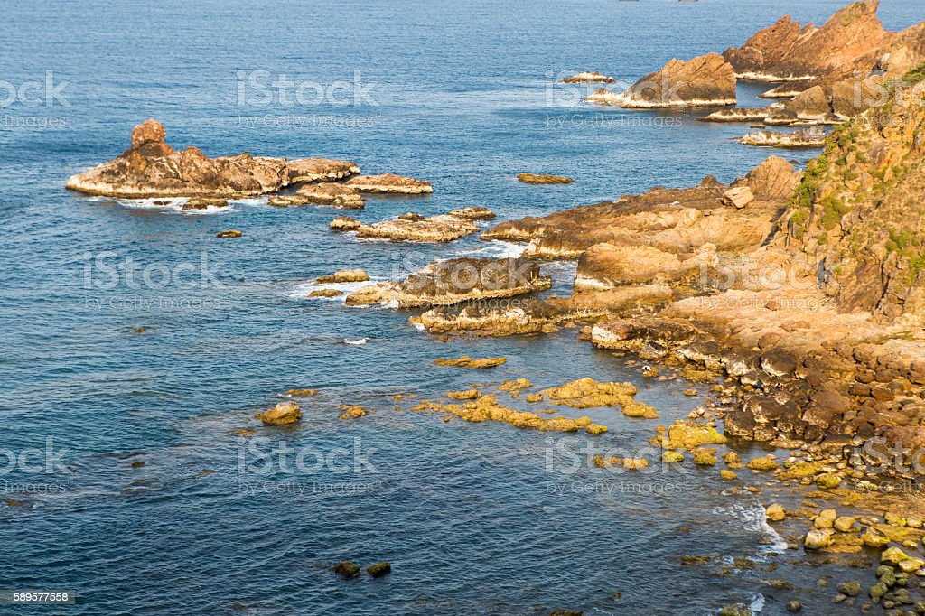 Eo Gio ocean coast at Quy Nhon city, Vietnam stock photo