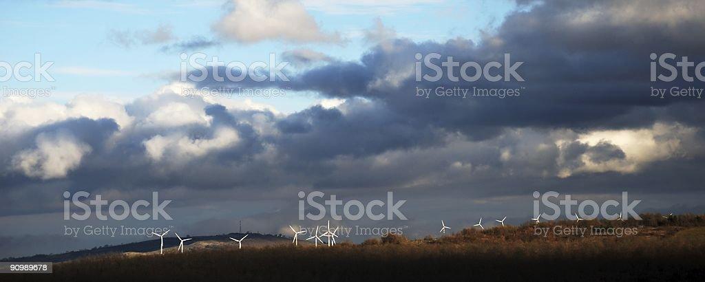 Eolic landscape royalty-free stock photo