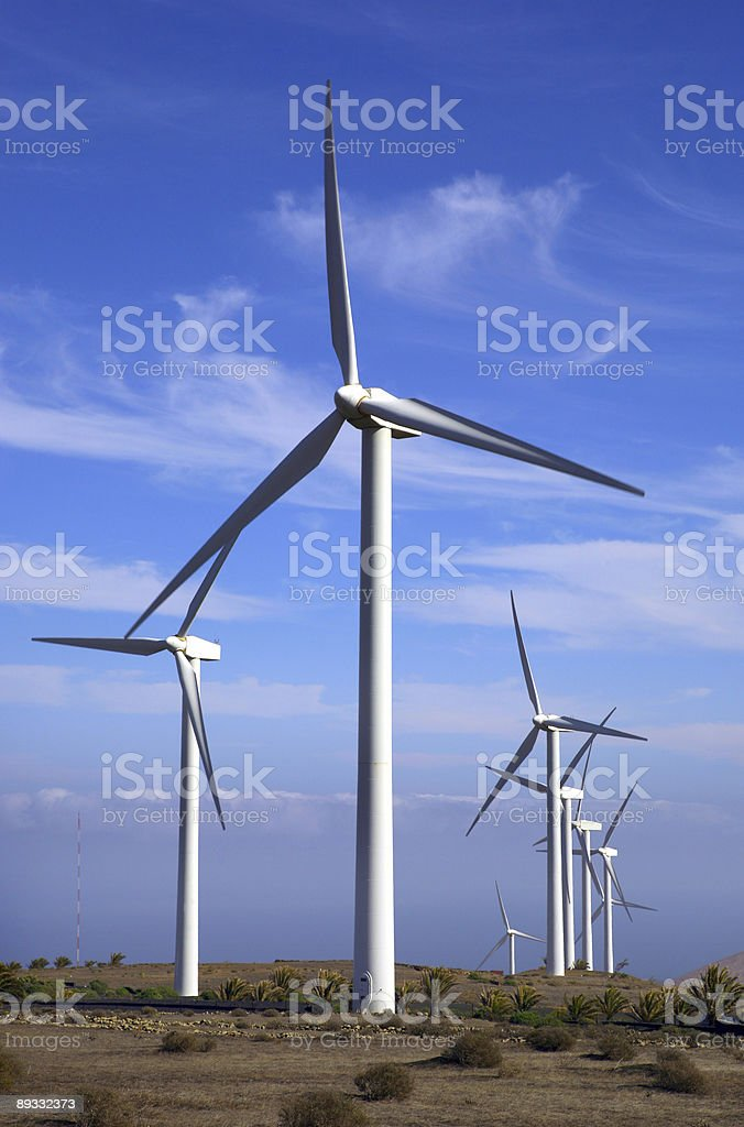 Eolic - wind turbine stock photo