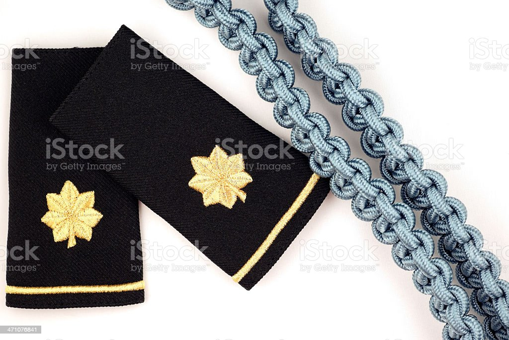 Epaulets of a United States Army Major royalty-free stock photo