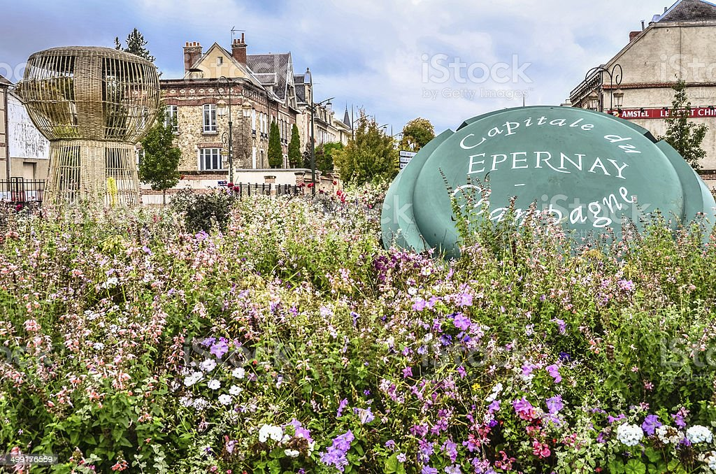 Epernay, France - The Capital of Champagne stock photo
