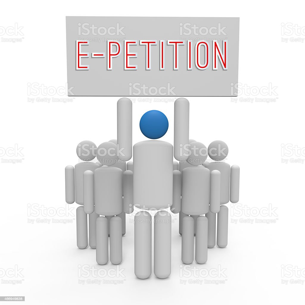 E-Petition stock photo