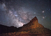 Eph Hanks Tower and Milky Way, UT