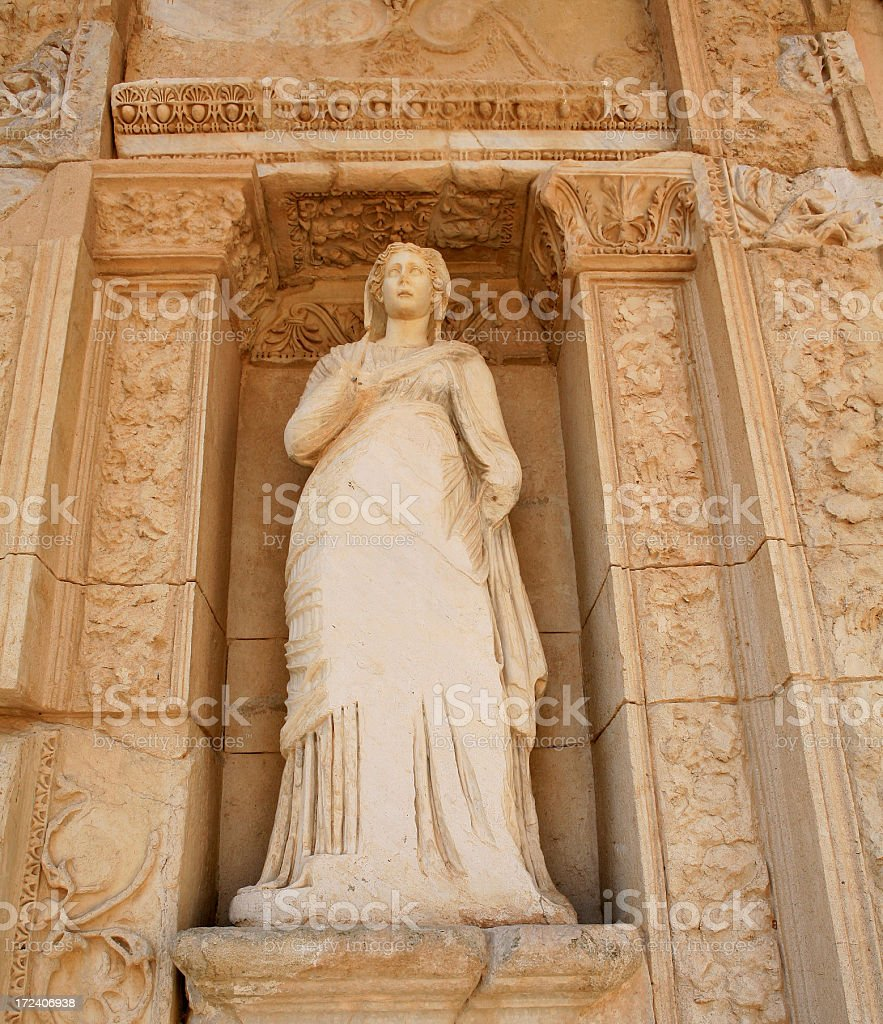 Ephesus 1 from 4 'Statues of Virtue' royalty-free stock photo