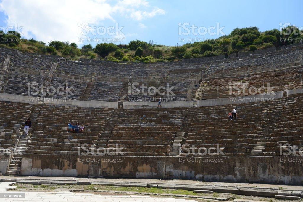 Ephesus Ancient City, in izmir, Turkey stock photo