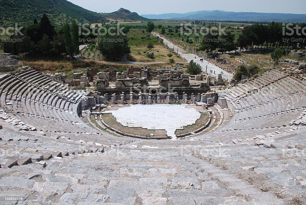 Ephesos antiken Theater Lizenzfreies stock-foto