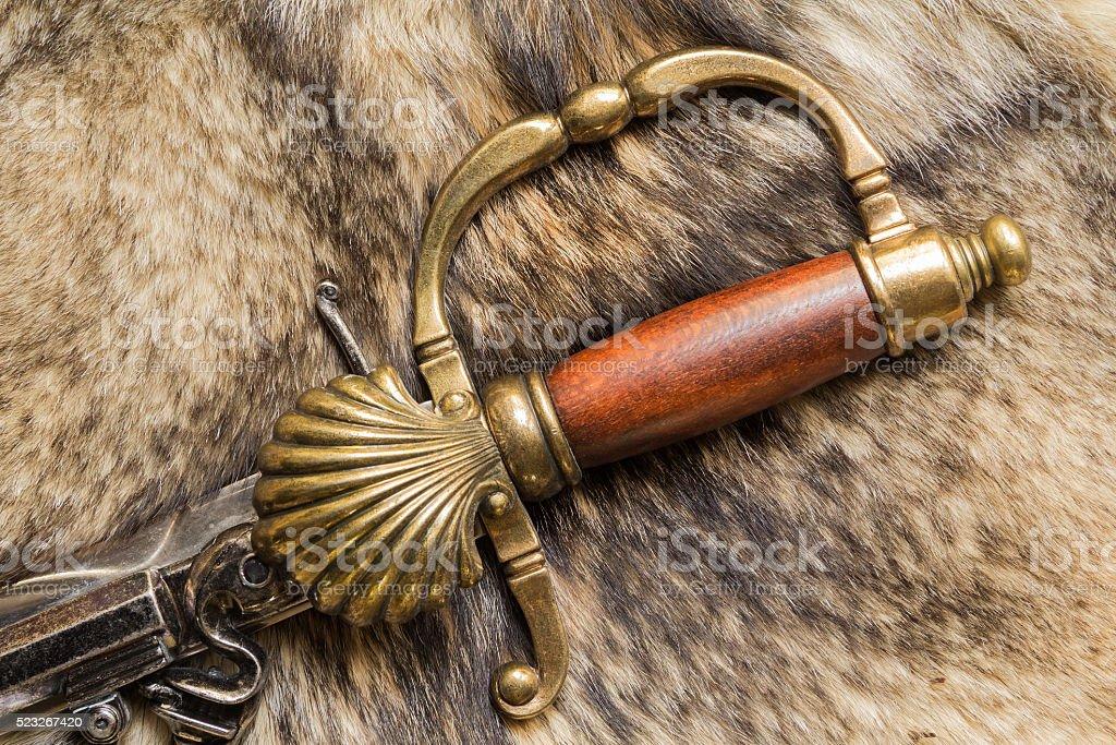 Ephesus antique sword stock photo
