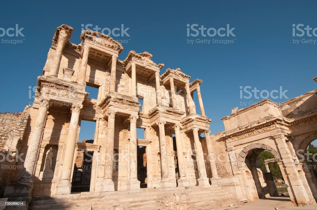 Ephesus Celsius Library royalty-free stock photo