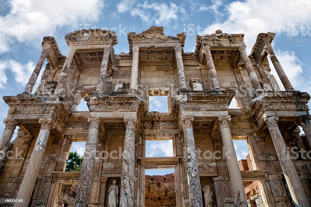 Ephesus Celsius Library Turkey royalty-free stock photo