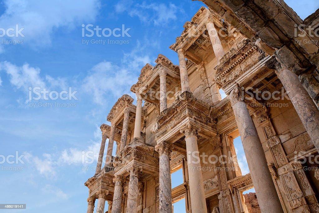 Ephesus Celsius Library Turkey stock photo