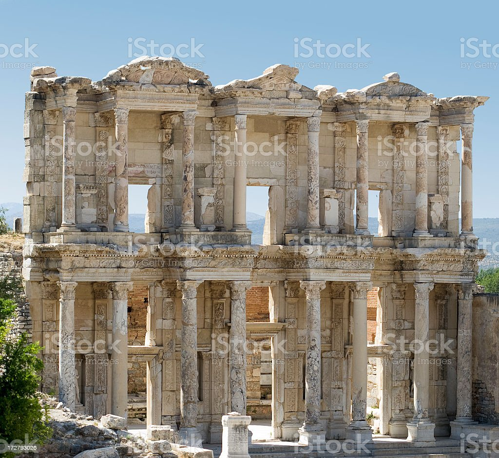Ephesus Celsus library royalty-free stock photo