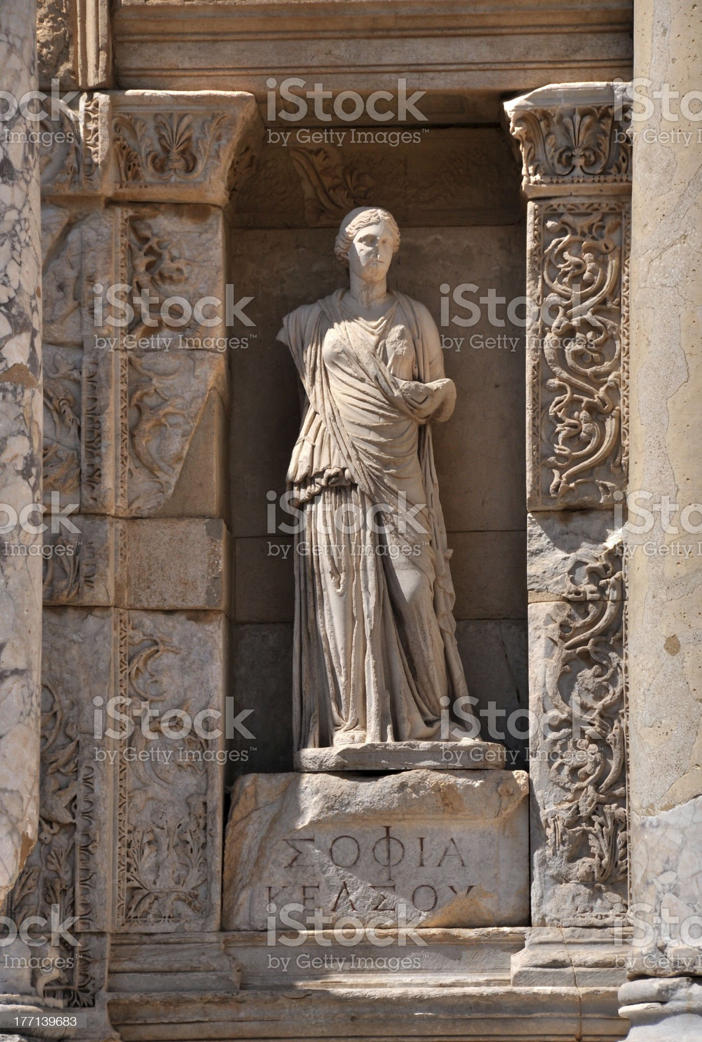 Ephesus; Celsus Library royalty-free stock photo