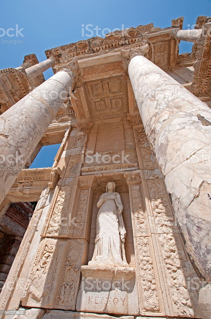 Ephesus Celsus Library - Turkey stock photo