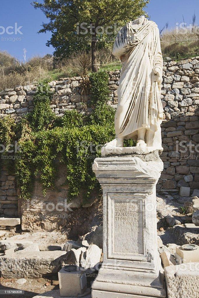 Ephesus, Classical Statue royalty-free stock photo