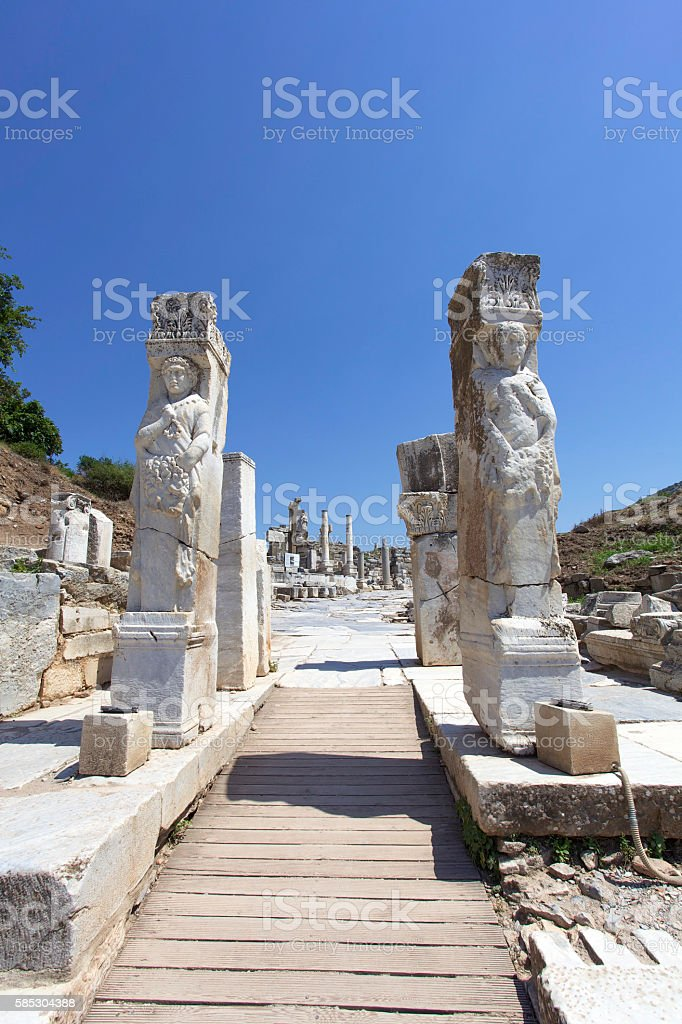 Ephesus Hercules Gate stock photo