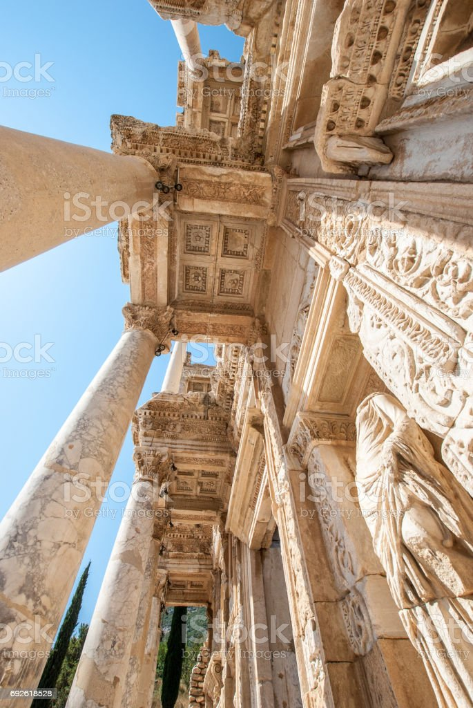 Ephesus library stock photo