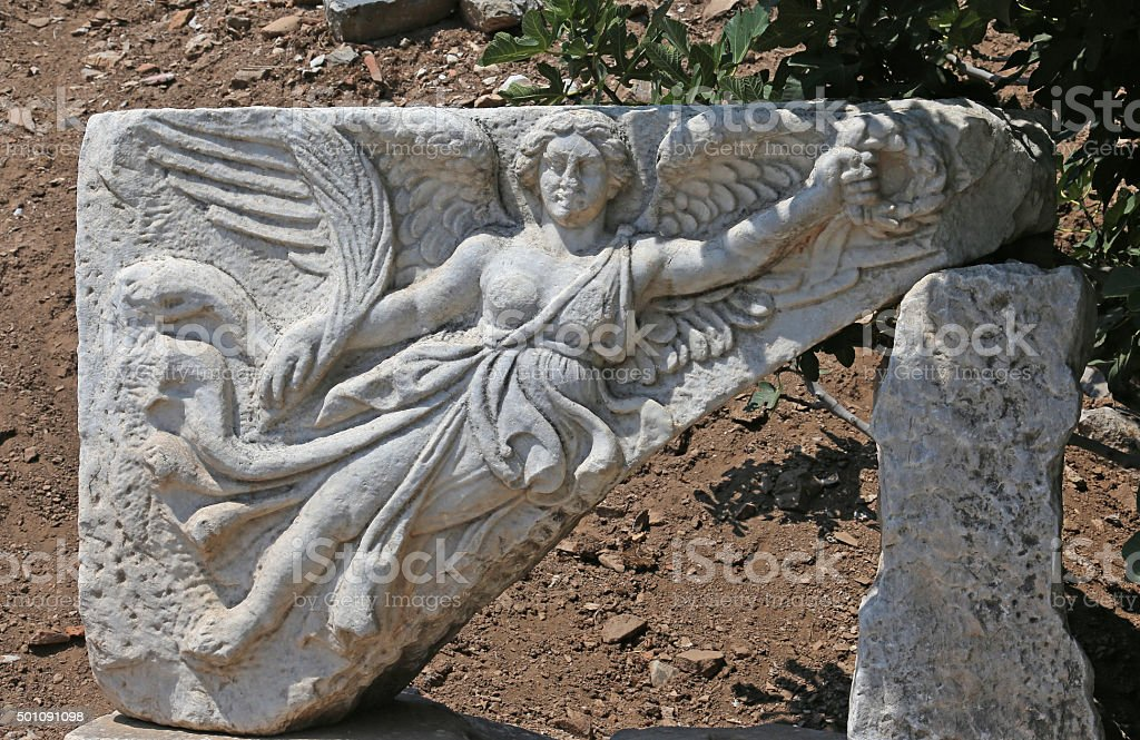 Ephesus Nike stock photo