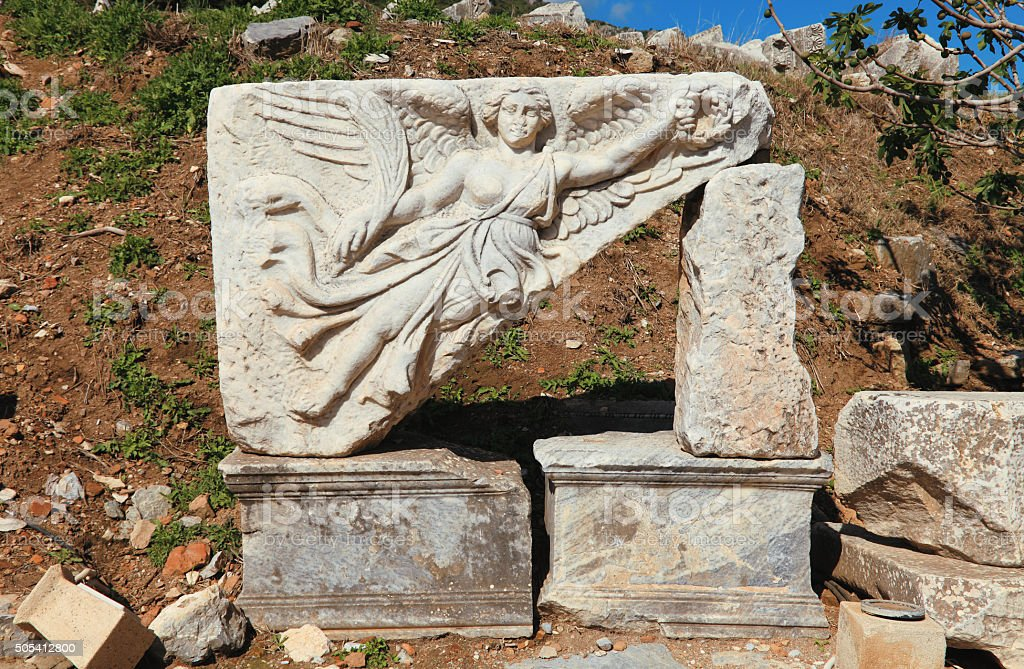 Ephesus Relief Details stock photo