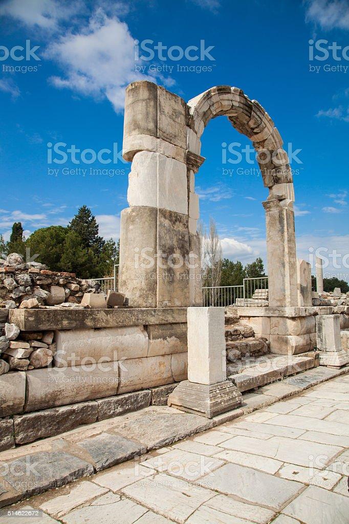 Ephesus Ruins izmir Turkey stock photo