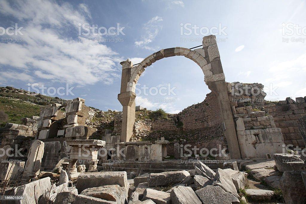 ephesus ruins royalty-free stock photo