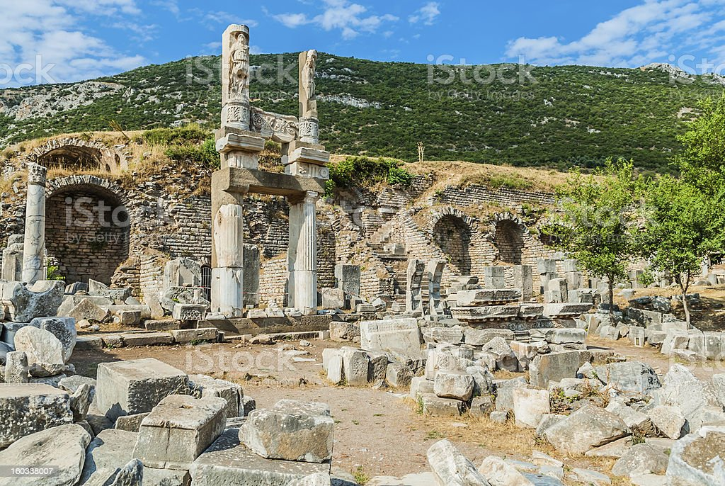 Ephesus ruins Turkey royalty-free stock photo