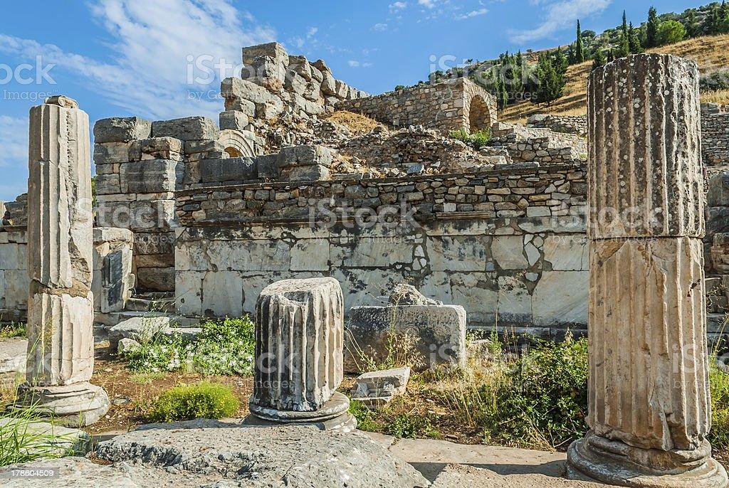 Ephesus ruins Turkey royalty-free stock photo