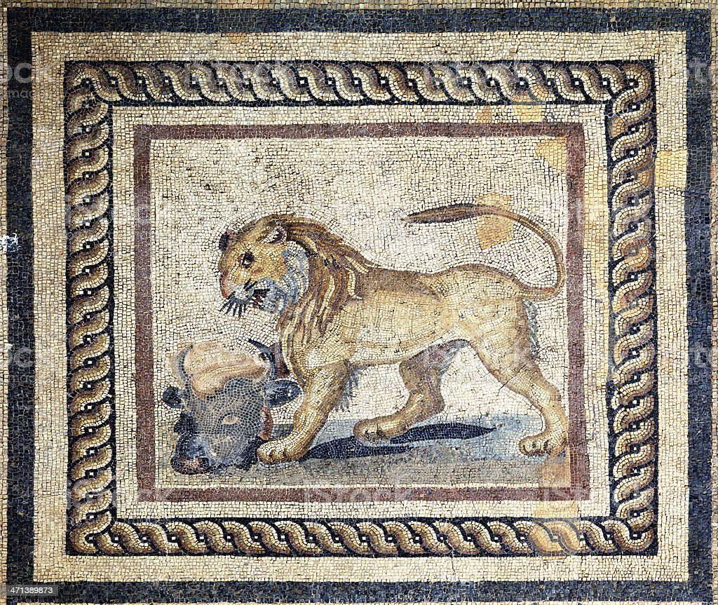 Ephesus Terrace Houses royalty-free stock photo