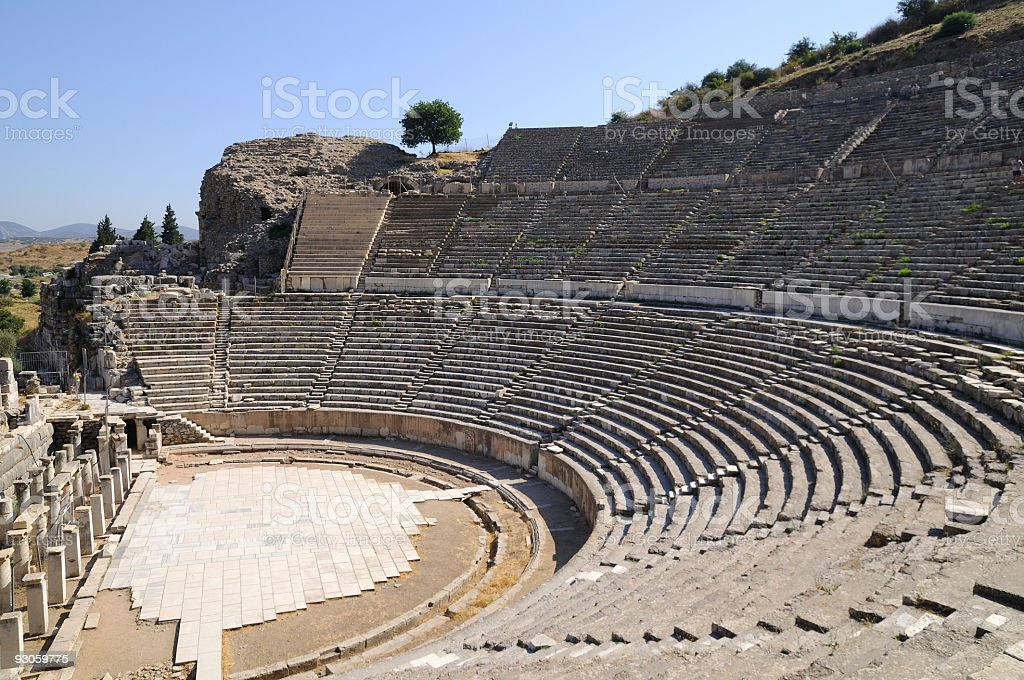 Ephesus Theatre royalty-free stock photo