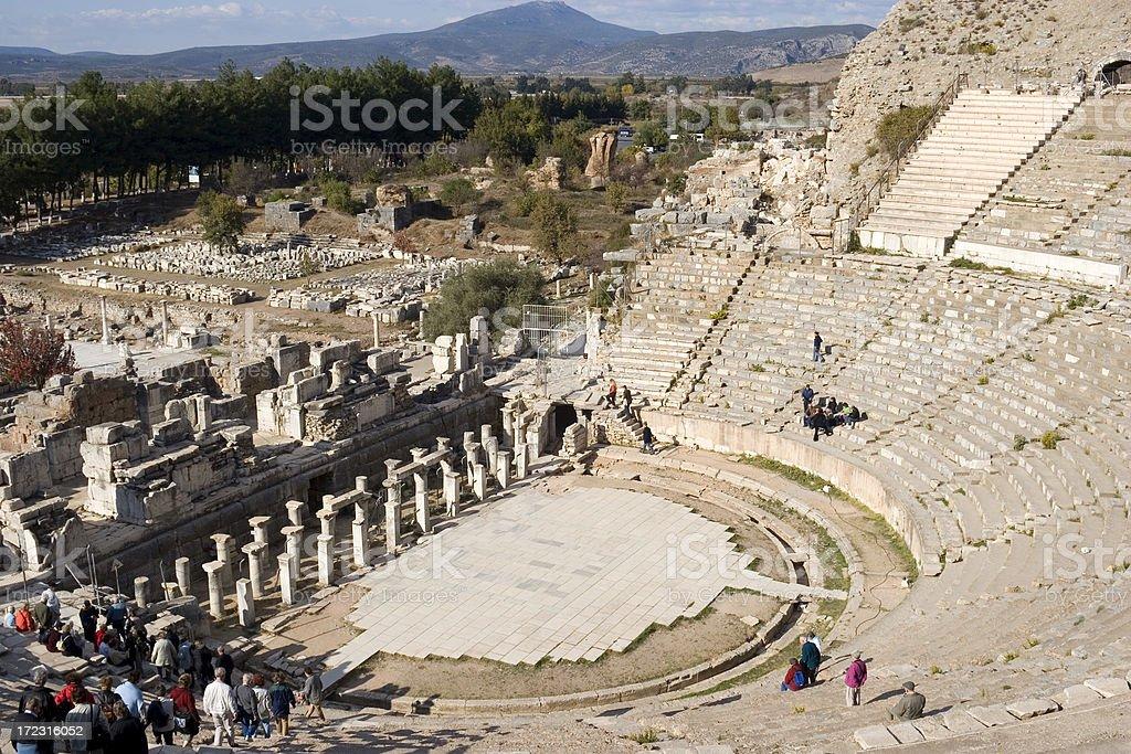 Ephesus theatre, Turkey royalty-free stock photo