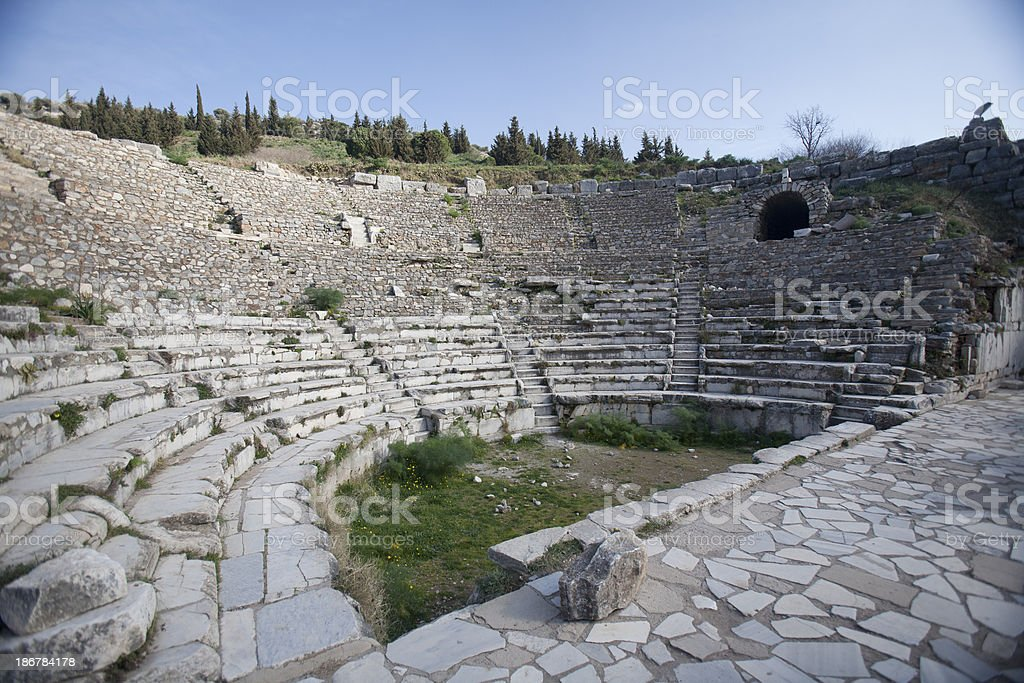 Ephesus theatre, Turkey royalty-free stock photo