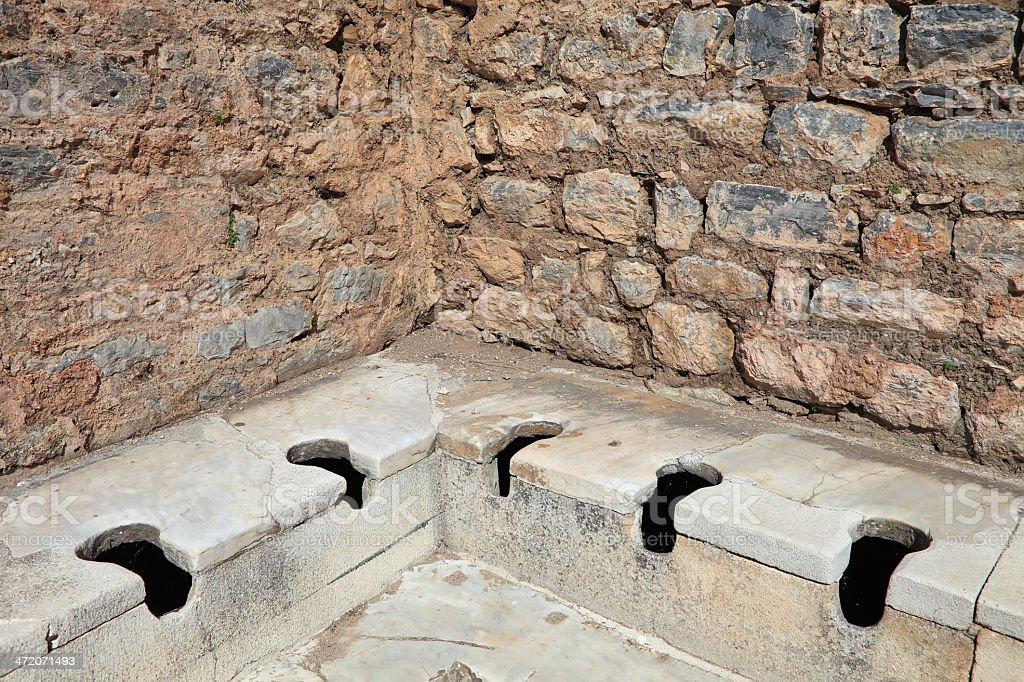 Ephesus Toilet stock photo