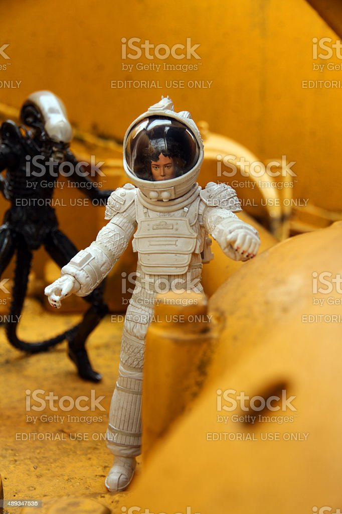 Epic Battle in Space stock photo