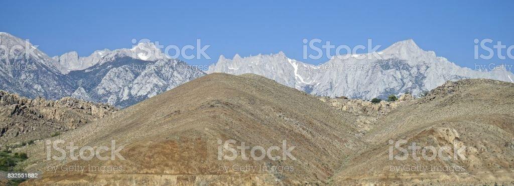 Epic High Sierra Peaks stock photo