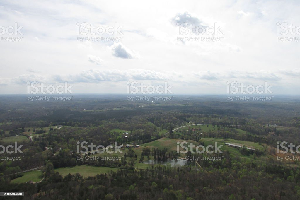 Epic Landscape Over Georgia stock photo