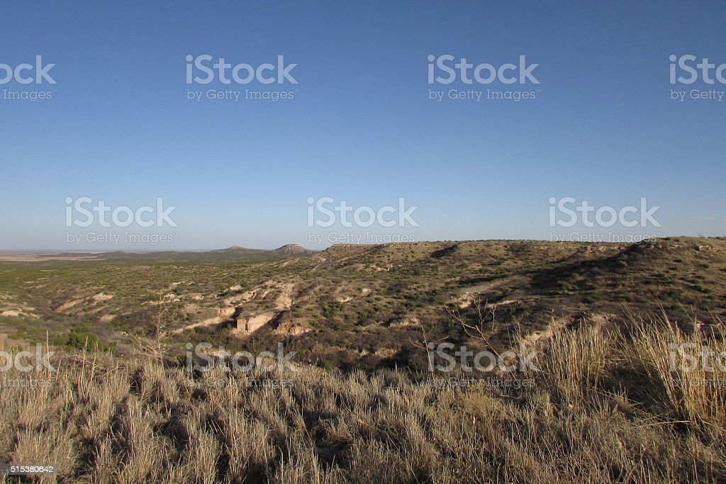 Epic Mountain Desert Landscape stock photo