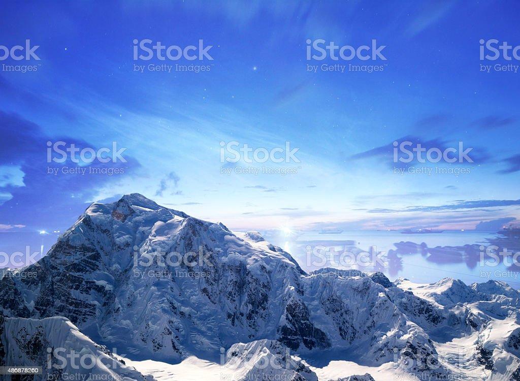 Epic mountain view stock photo