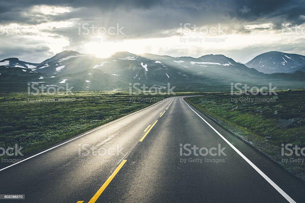 Epic road stock photo