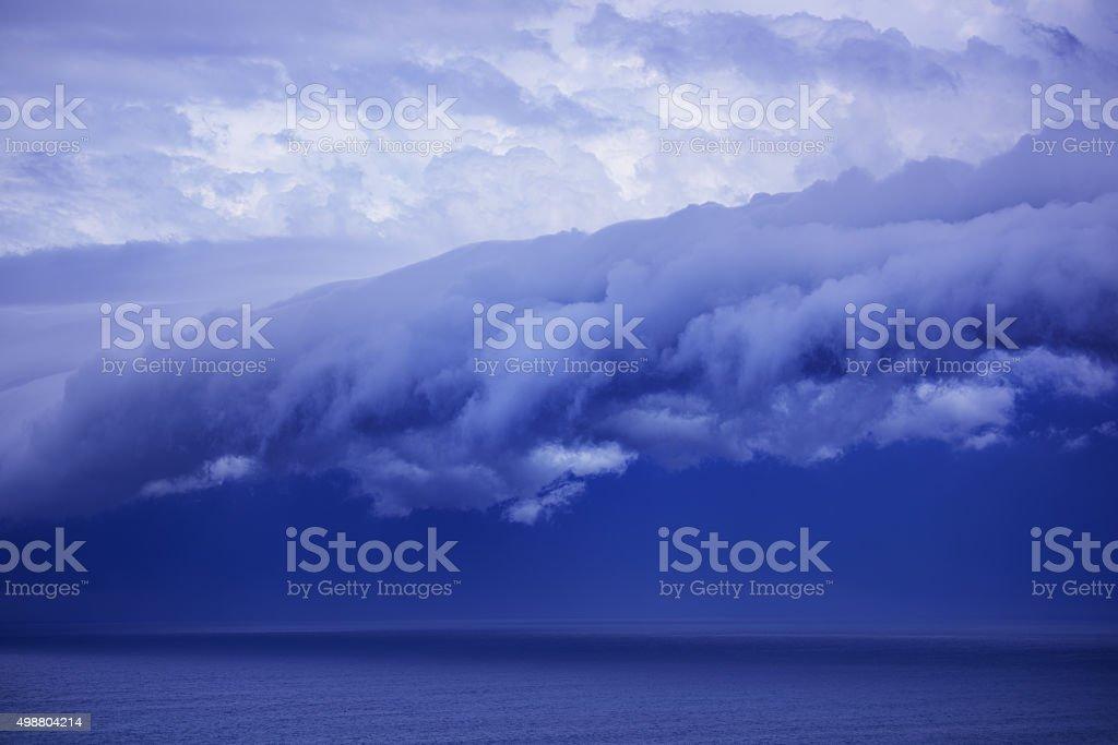 Epic supercell shelf cloud, nov 6, 2015, Sydney stock photo