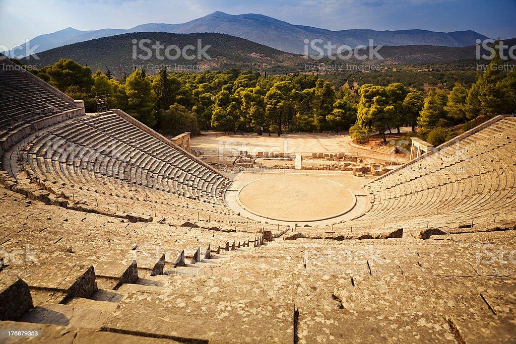 Epidaurus amphitheatre stock photo